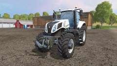 New Holland T8.435 white v1.1 pour Farming Simulator 2015