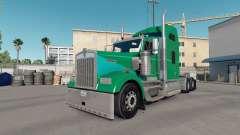 Haut Grüne Tonerde auf die LKW-Kenworth W900