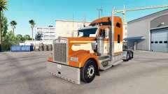 Haut Einer Orange, die auf dem truck-Kenworth W9