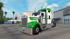 Die Haut Weiß & Grün auf der LKW-Kenworth W900