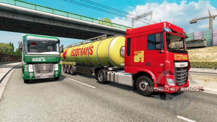 Painted truck traffic pack v2.5 pour Euro Truck Simulator 2