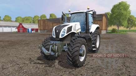 New Holland T8.435 white v1.1 für Farming Simulator 2015