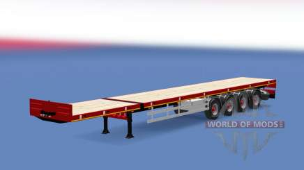 Doll flatbed trailer pour Euro Truck Simulator 2