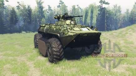 BTR-82A (GAZ-59034) hybride pour Spin Tires