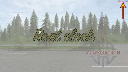 Real clock für Farming Simulator 2017