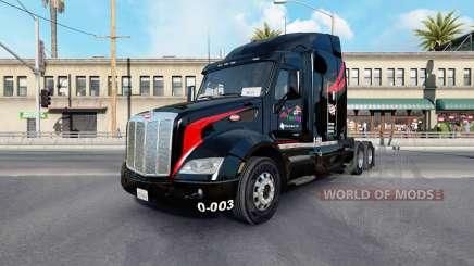 La Peau De M.&.De Camionnage v1.1 sur le tracteur Peterbilt 579 pour American Truck Simulator