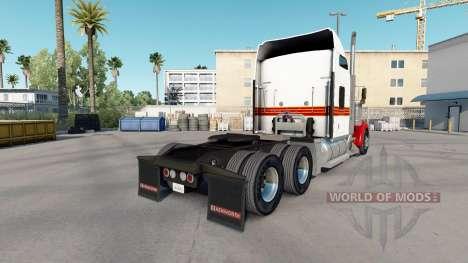 Die Haut Weiß & Rot Kenworth W900 Zugmaschine für American Truck Simulator