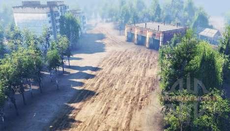 La ville dans la forêt pour Spin Tires