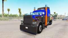 Haut Grau Orange auf der truck-Peterbilt 389