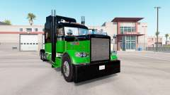 Haut-Schwarz & Grün für den truck-Peterbilt 389