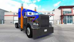 La peau Gris Orange v2.0 tracteur Peterbilt 389