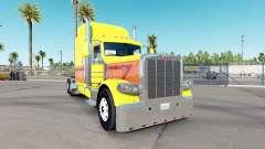 Haut Gelb Burst auf die truck-Peterbilt 389