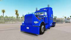 Bleu Dur de la peau pour le camion Peterbilt 389