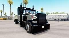 La Magie noire de la peau pour le camion Peterbi