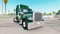 Skin Dunkelgrün für den truck-Peterbilt 389