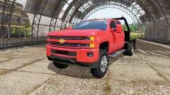 Chevrolet Silverado 3500 HD Crew Cab flatbed pour Farming Simulator 2017