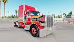 La peau de Bébé Rouge sur le camion Peterbilt 38