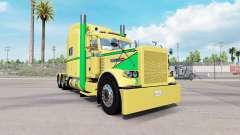 Haut Gelb Grün für den truck-Peterbilt 389