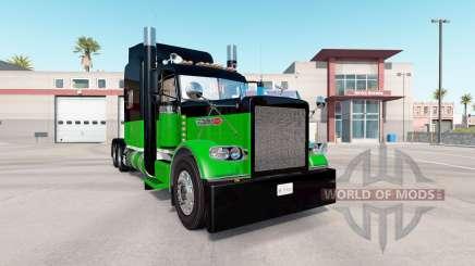 La peau Noire & Verte pour le camion Peterbilt 389 pour American Truck Simulator