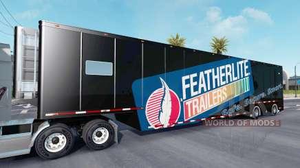 Featherlite semitrailer v1.4 für American Truck Simulator