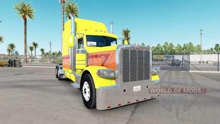 Peau Jaune Éclater sur le camion Peterbilt 389 pour American Truck Simulator