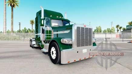 Peau vert foncé pour le camion Peterbilt 389 pour American Truck Simulator