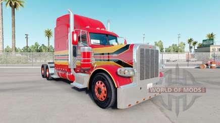 La peau de Bébé Rouge sur le camion Peterbilt 389 pour American Truck Simulator