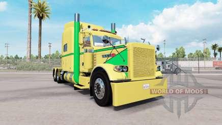 Peau Jaune Vert pour le camion Peterbilt 389 pour American Truck Simulator