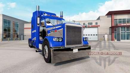 La peau Bleu Et Gris Métallisé sur le camion Peterbilt 389 pour American Truck Simulator