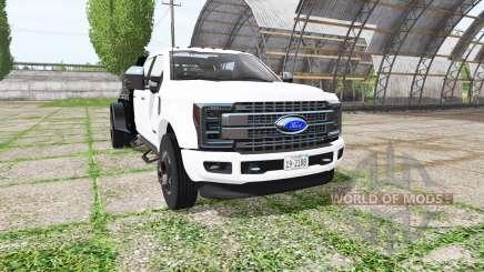 Ford F-450 Super Duty flatbed pour Farming Simulator 2017