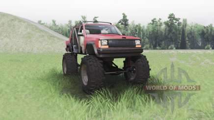 Jeep Cherokee (XJ) chopped pour Spin Tires