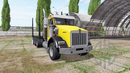 Kenworth T800B logging truck für Farming Simulator 2017
