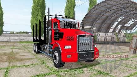 Kenworth T800 log truck für Farming Simulator 2017