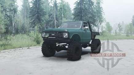 Chevrolet K10 1972 green pour MudRunner
