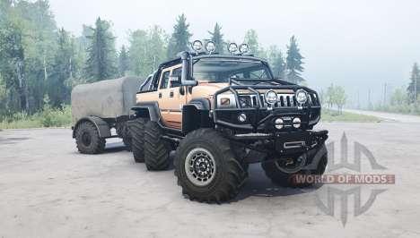 Hummer H2 SUT 6x6 pour Spintires MudRunner