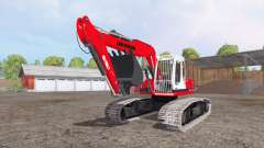 Liebherr A 900 C Litronic red pour Farming Simulator 2015