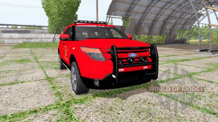 Ford Explorer Limited (U502) fire department pour Farming Simulator 2017