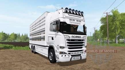 Scania R730 cattle transport für Farming Simulator 2017