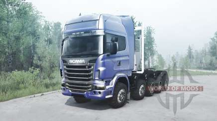 Scania R730 10x10 pour MudRunner