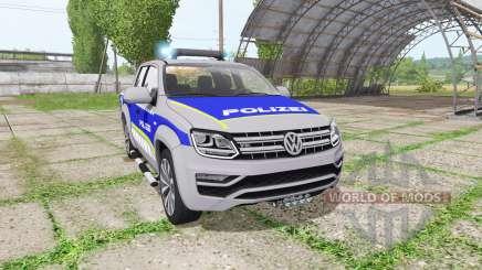 Volkswagen Amarok Double Cab polizei für Farming Simulator 2017