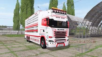 Scania R730 cattle transport v2.1 pour Farming Simulator 2017