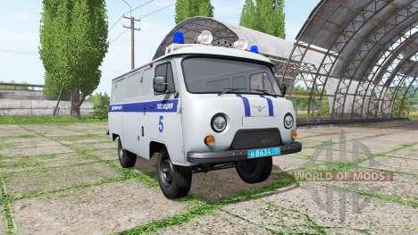 UAZ 3909 de la Police pour Farming Simulator 2017