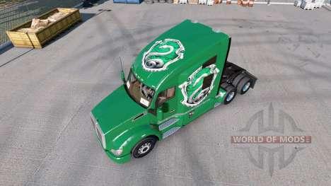 Skins Hogwarts-Häuser für die Zugmaschine Kenworth T680 für American Truck Simulator