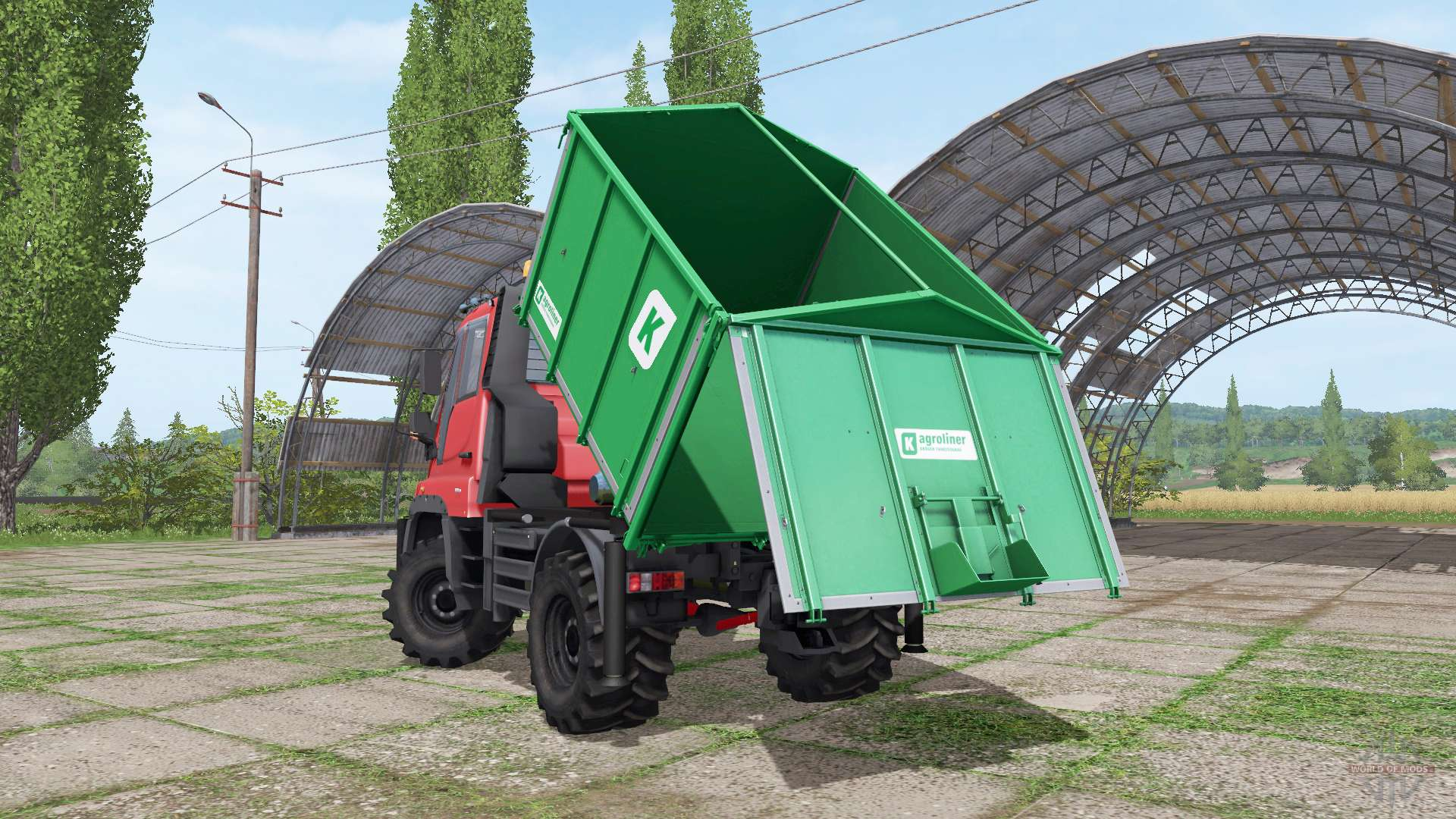 mercedes benz unimog u400 f r farming simulator 2017. Black Bedroom Furniture Sets. Home Design Ideas
