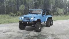 Jeep Wrangler (JK) 6x6 crawler pour MudRunner