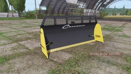 Remorques Chevance silage blade pour Farming Simulator 2017