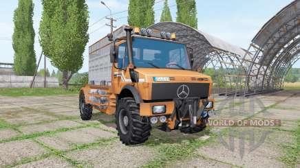 Mercedes-Benz Unimog U1600 cattle transport pour Farming Simulator 2017