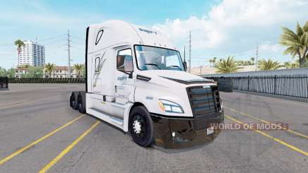 Haut Swift auf Zugmaschine Freightliner Cascadia für American Truck Simulator