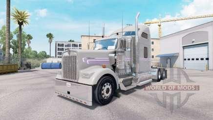 Haut Grau Lila Kenworth W900 Zugmaschine für American Truck Simulator
