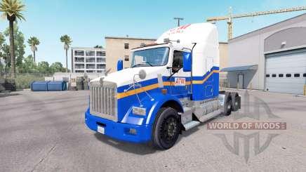 La peau de l'ATM sur le camion Kenworth T800 pour American Truck Simulator